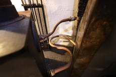 Backboiler pipework