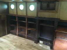 Storage space in saloon