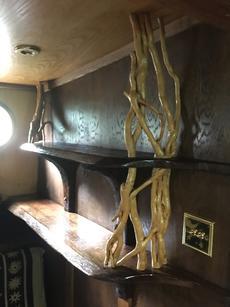 Shelf detail in saloon