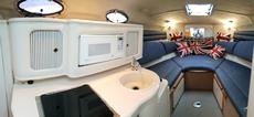 Galley And Seating/ Bed