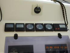 Instrument panel in cockpit