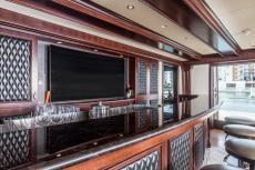 Main Salon Flat Screen at Bar