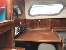 Chart table and VHF