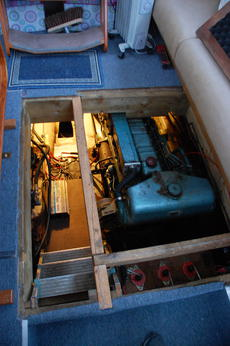 Access to engine from main saloon