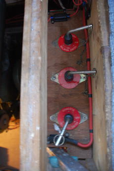 port, starboard and domestic batteries