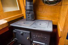 Traditional back cabin with epping stove