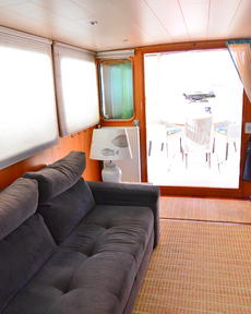 Wheelhouse sofa and blinds