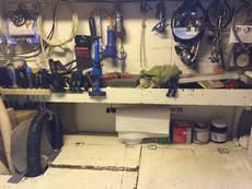 Engine room work bench