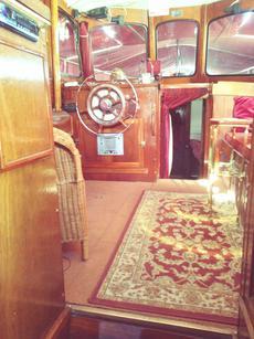 Mahogany wood interior