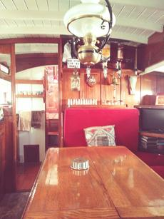 Saloon with bar and tv