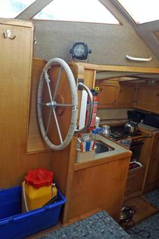 Inside wheelhouse