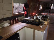 Kitchen with corner carousel