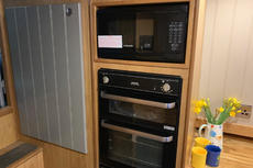 Microwave, Gas Oven and Grill.