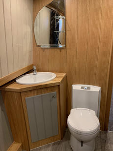 Spacious Bathroom with Cassette Toilet and Shower.