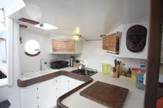 Full size galley with Corian counters