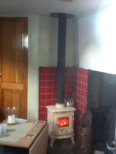 Cosy enamelled cast-iron 4kw multifuel stove