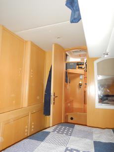 View of main cabin from master cabin