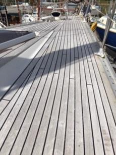 Winter cover just removed, decks washed, great condition.