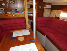 Dining area and settee berth