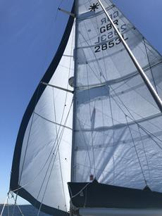 The woven Dyneema sails are in good condition