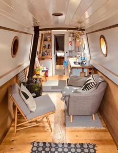 The spacious main cabin