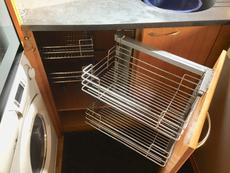 Pull out cupboard storage maximising use