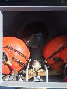 Gas locker in bow