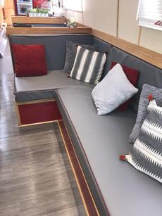 Converts into an extra long double bed.