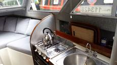 2 burner gas hob with oven