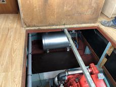 calorifier. black water tank sits in front