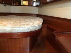 Queen size berth in Forward stateroom