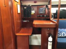 Chart table: RL70C, Icom VHF, Stereo/CD player and Inverter control