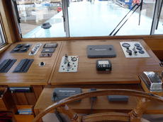 Control panels in the wheelhouse