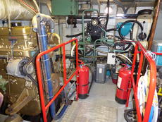 Engine room extinguishers 1 and 2
