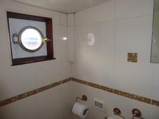 Aft cabin brass porthole