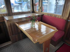 Wheelhouse seating area