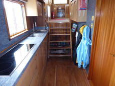 Galley companionway and deck storage hatch
