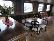 Saloon dining area looking from the galley