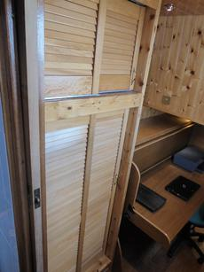 Starboard cabin wardrobe
