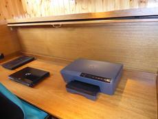 Starboard cabin desk