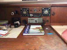 Chart table and navigation instruments.
