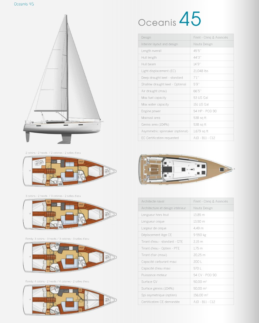 Beneteau Beneteau Oceanis Beneteau Oceanis 45 For Sale Boats For