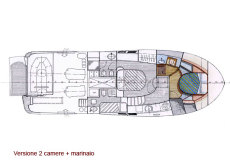 Forward island berth layout