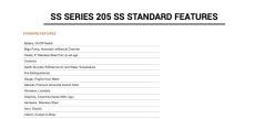 SS Series 205 SS Specs