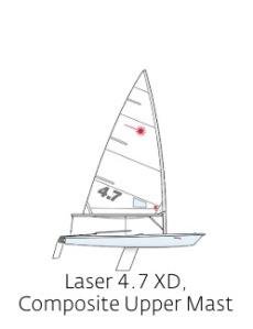 Laser 4.7 XD Composite Upper Mast