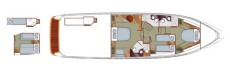 Sealine T60 Accommodation Layout