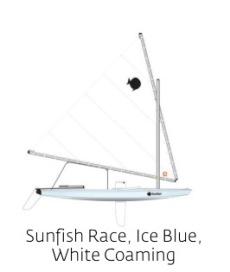 Sunfish, Ice Blue, White Coaming