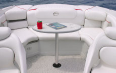 Crownline Bowrider 230 LS - Table easily sets up in either the stern or bow of the 230 LS and neatly stores under the sundeck when not in use